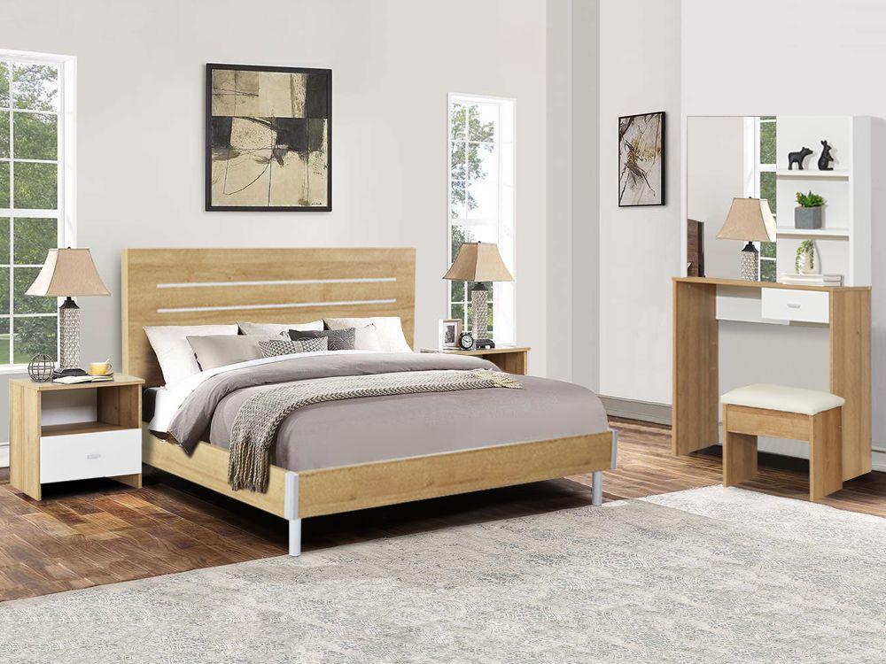 Makalu King Bedroom Furniture Package With Dressing Table Oak King Bedroom Sets Bedroom Sets Queen King Bedroom