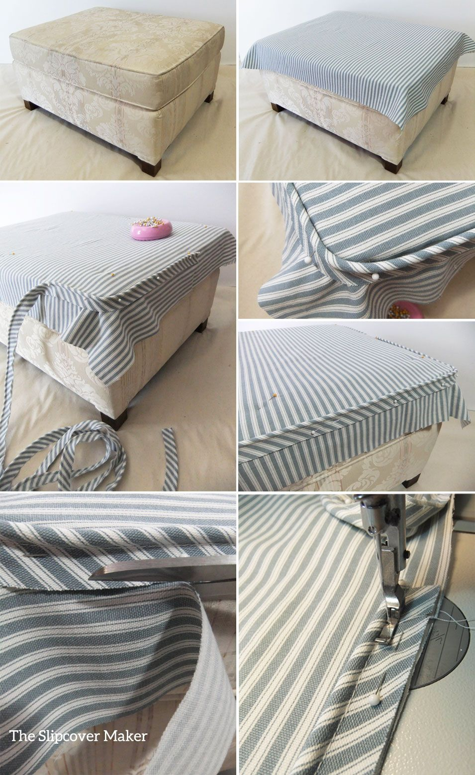 have you ever made an ottoman slipcover and the top fit too small even though your measurements were spot on did the welt cord ride up and pull away from