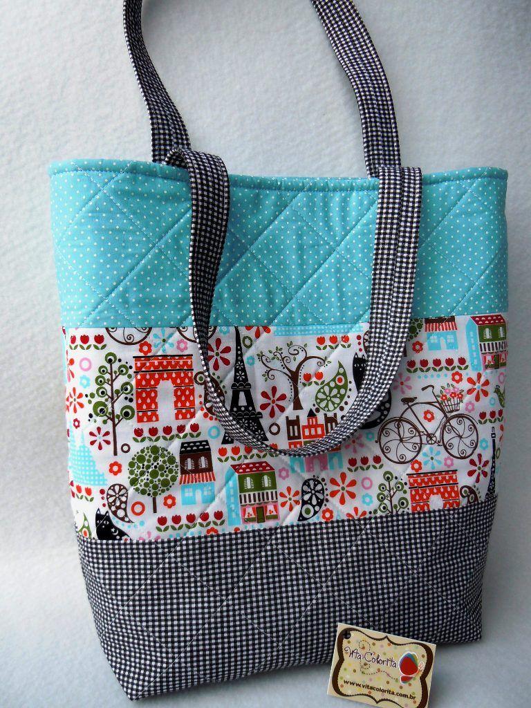 fd5ec09af Bolsa Dri - grande   Sewing: Bags etc   Patchwork bags, DIY bags ...