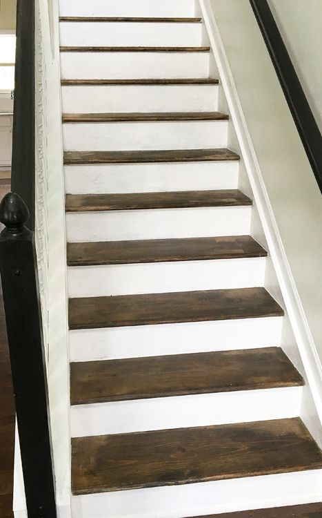 Best How To Stain Stairs Stair Makeover Staircase Makeover 400 x 300