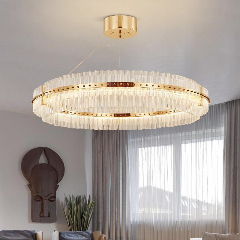 Round Glass Chandelier Modern Style Living Room Lighting Modern Style Living Room Modern Chandelier Living Room Lighting