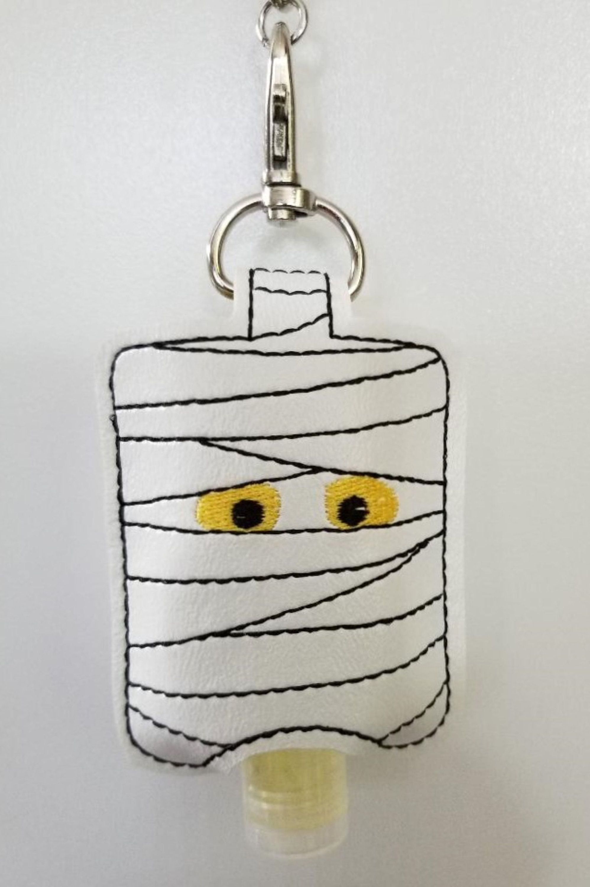 Halloween Mummy Embroidered Hand Sanitizer Holder Hand Sanitizer