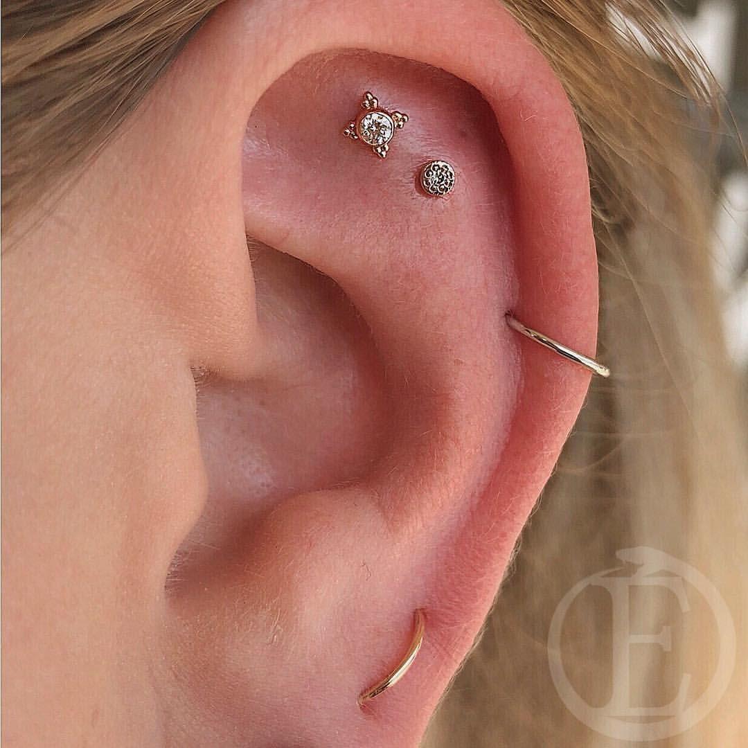 Nose and ear piercing  Pin by Carson Gubitz on Piercings  Pinterest  Piercings Ear