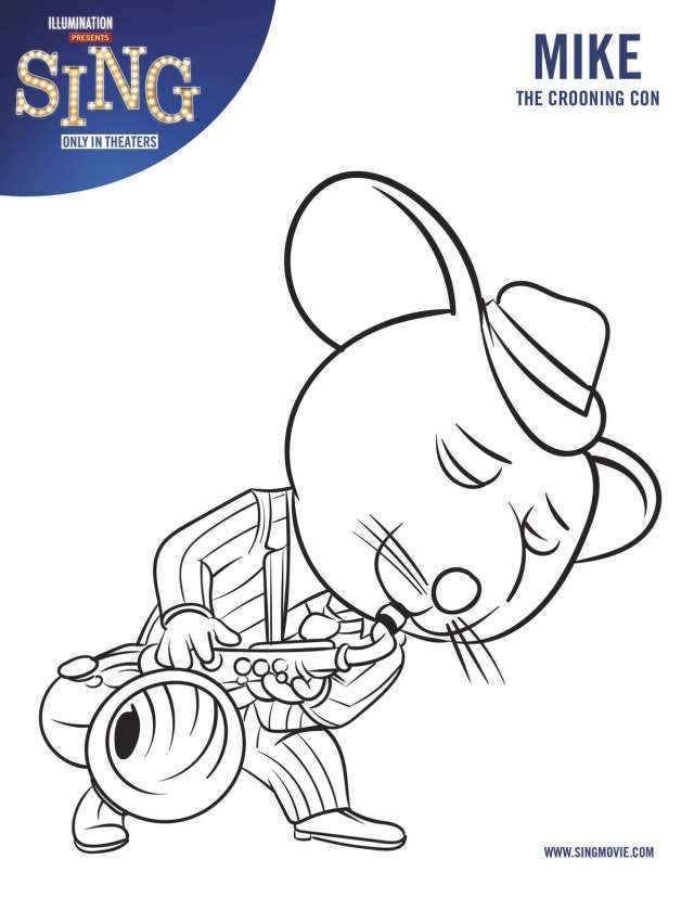 Top 10 Sing Movie Coloring Pages Sing movie - new zootopia coloring pages free