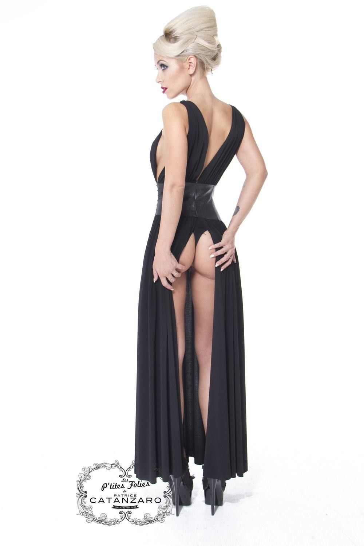 robe longue fendue patrice catanzaro les p 39 tites folies vol 5 pinterest robe longue fendue. Black Bedroom Furniture Sets. Home Design Ideas