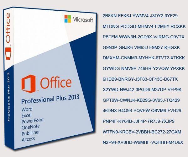 Microsoft Office 2013 Professional Plus Product Key List 2016 Microsoft Office Microsoft Ms Office