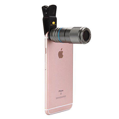 Iphone Clipon Camera Lens 12x Zoom Universal Camera Lens Clipon Telephoto Lens W 90degree Wide Angle Full Metal Body For Iphone 7 Camera Camera Lens Macro Lens