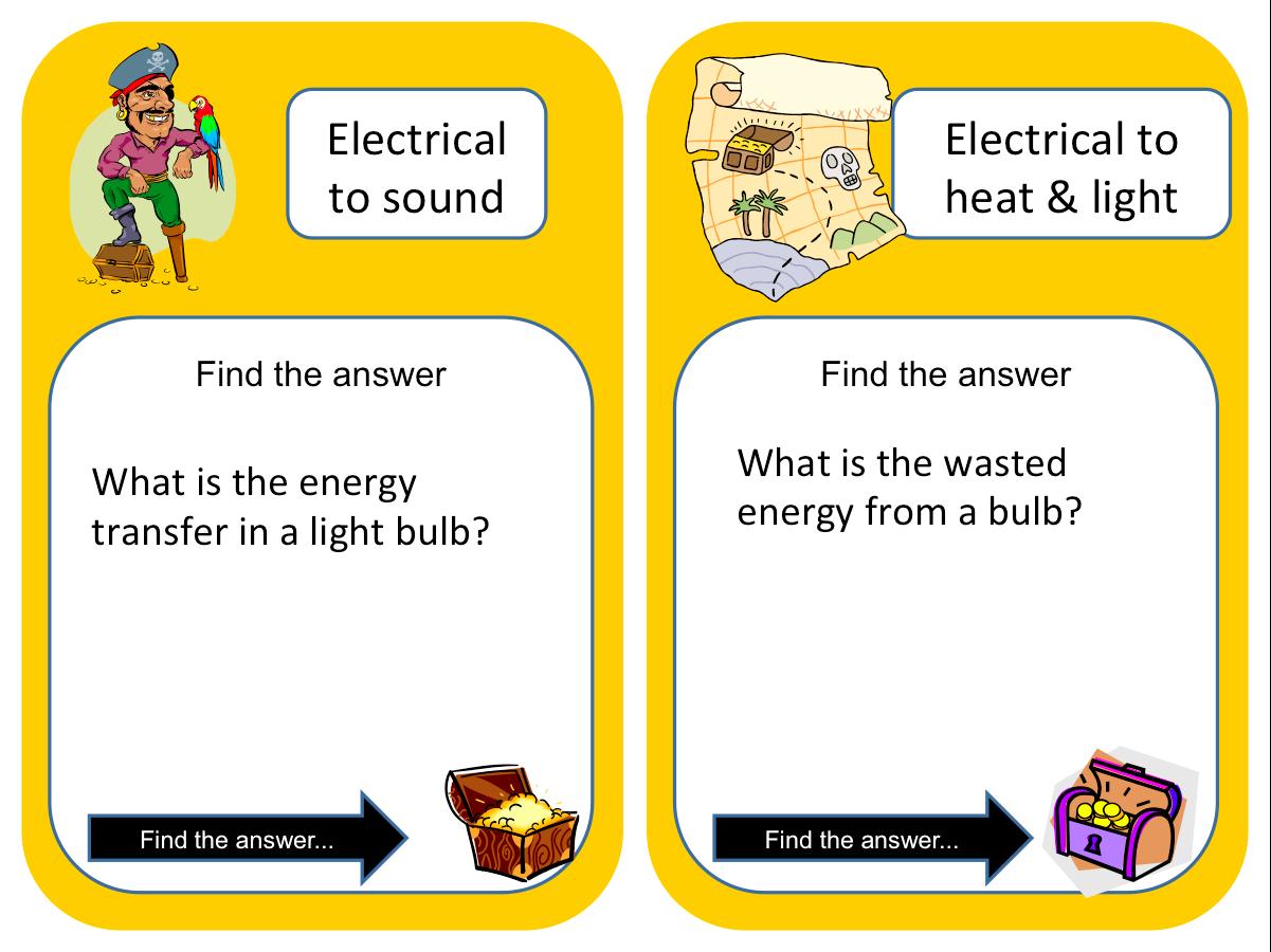 Great Treasure Hunt Or Loop Game On Transfers Of Energy