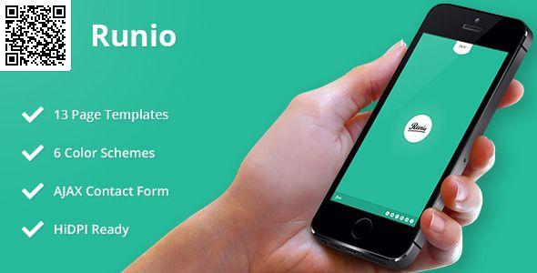 Runio | Mobile HTML/CSS Portfolio Template A mobile