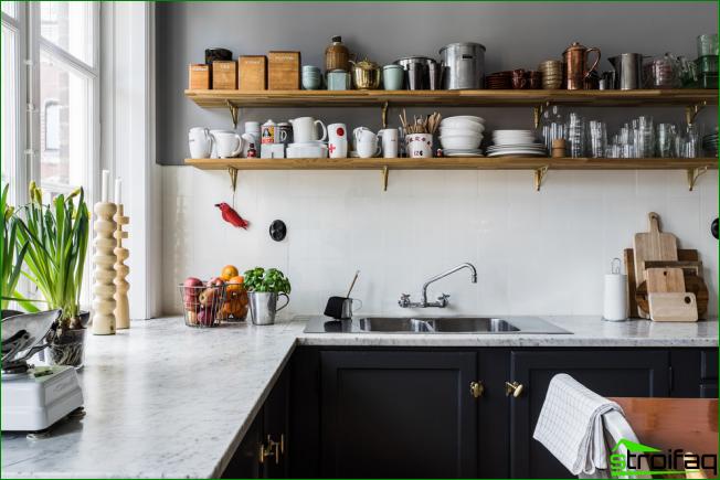 Cocina sin armarios superiores: 75 Ideas funcionales sorprendentes ...