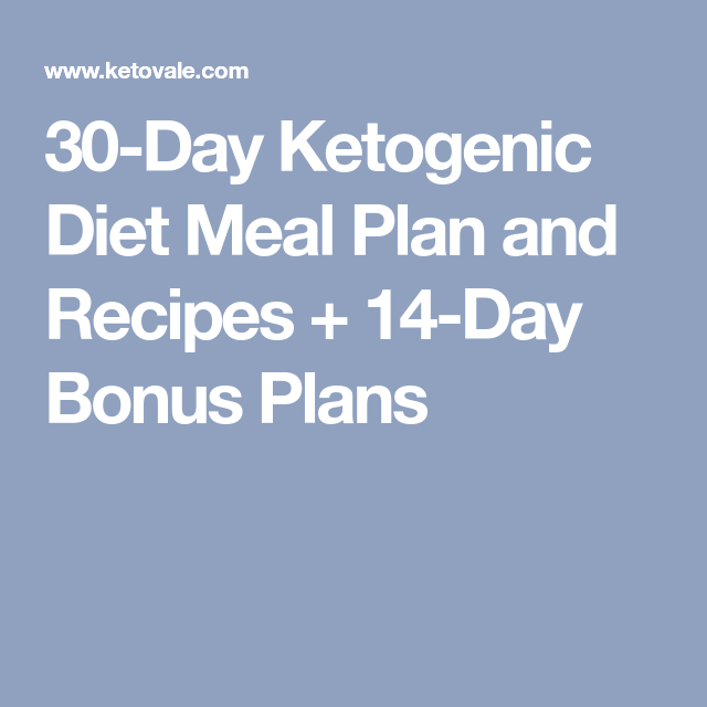 30 day diet meal plan