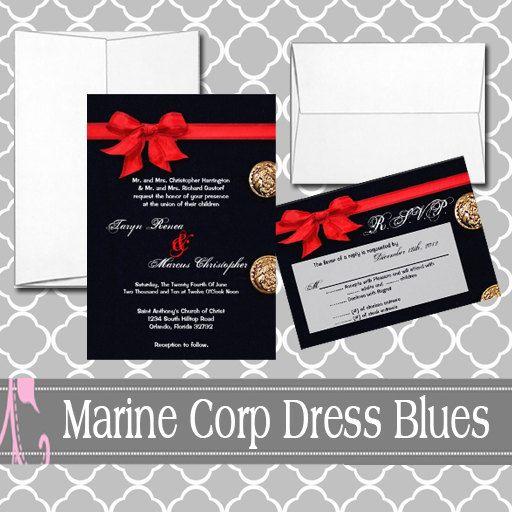 Marine Wedding Invitations: Marine Corp Dress Blues Uniform Suit By
