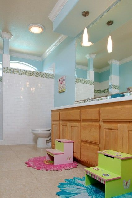 c9988d3422f69 22 Adorable Kids Bathroom Decor Ideas | Awesome Kid Bathrooms | Kid ...
