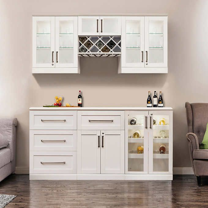 Home Wine Bar 7-piece Cabinetry Set by NewAge Products | For the ...