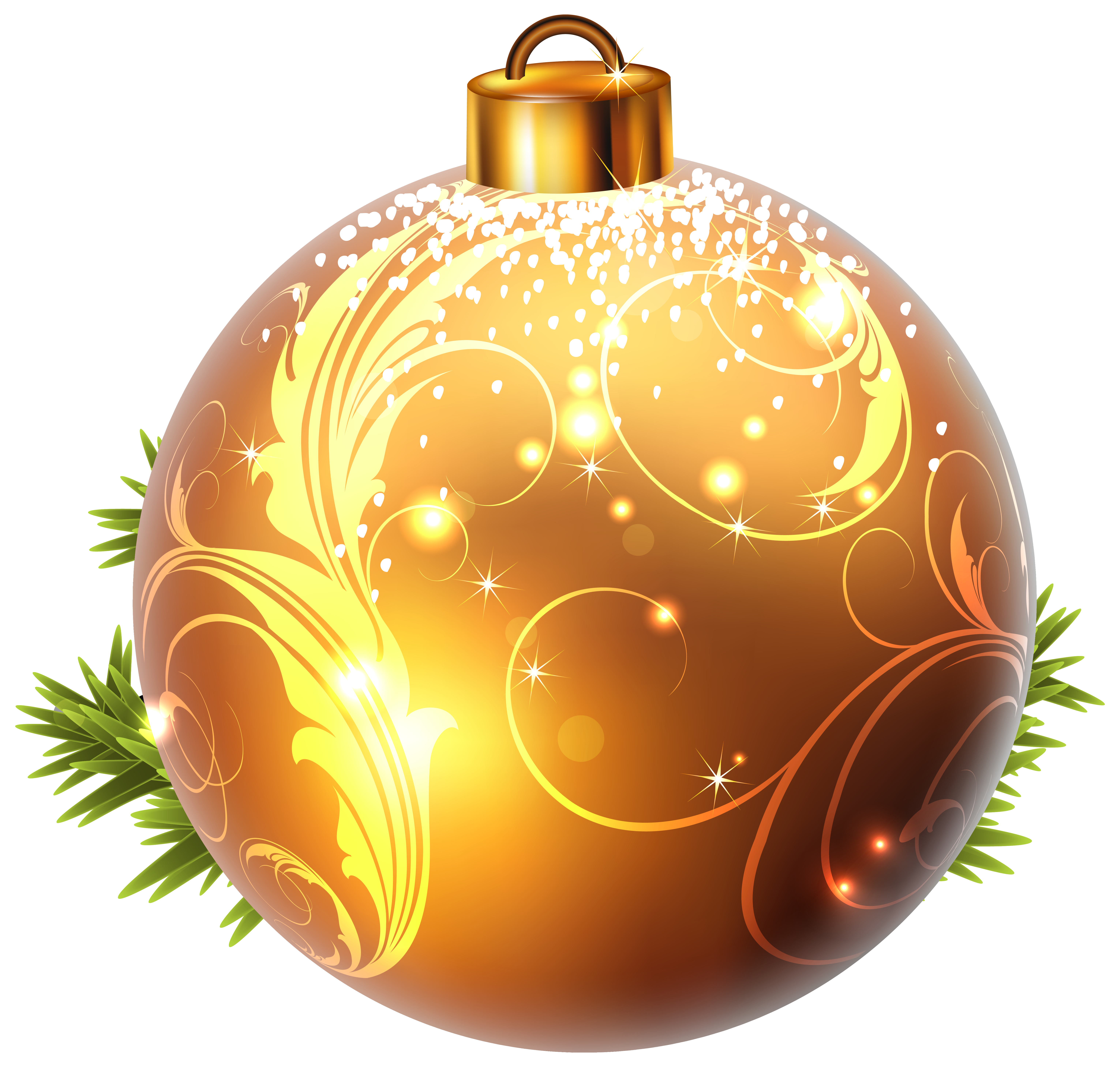 Yellow Christmas Ball Png Clipart Image Gallery Yopriceville High Quality Images And Transparent Christmas Gift Clip Art Christmas Balls Orange Christmas