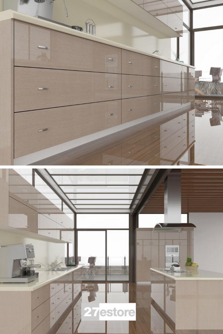 High Gloss Grey Ayous Veneer In 2020 Classy Cabinet Kitchen Cabinet Colors Kitchen Cabinet Trends