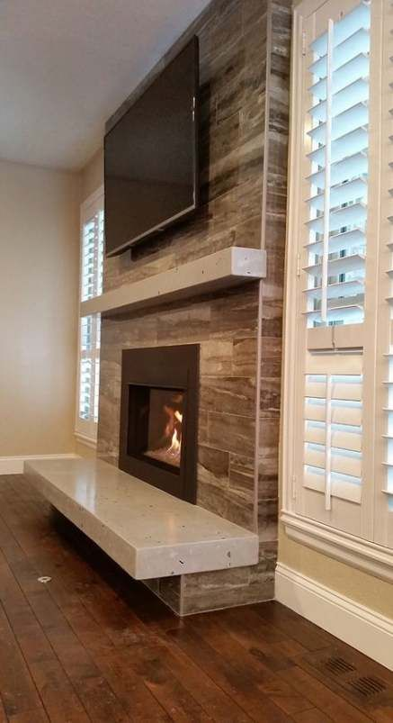 Photo of Living room arrangement with fireplace with tv basements 43 ideas