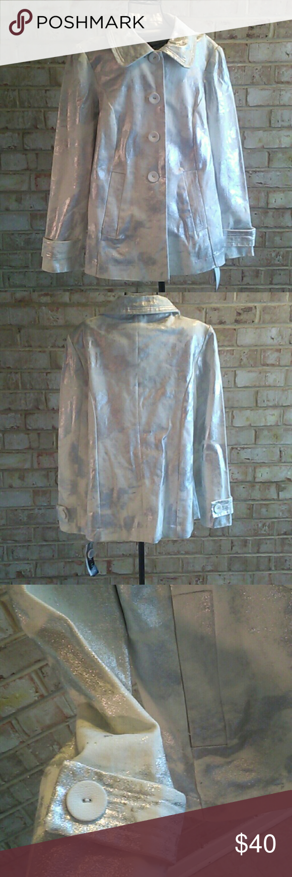 JACKET WHITE AND SILVER JACKET REVUE Jackets & Coats
