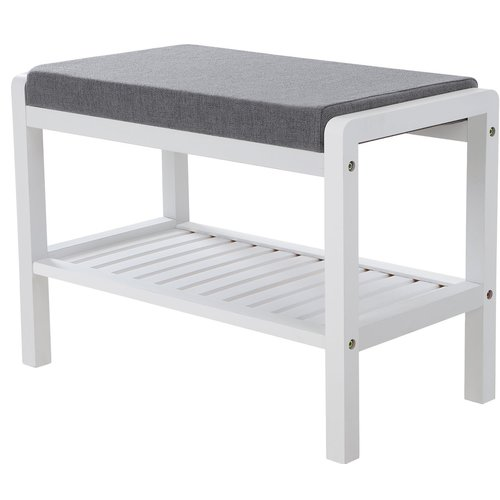 Songmics Bamboo 3 Pair Shoe Storage Bench Bench With Shoe Storage Upholstered Storage Bench Bench With Storage