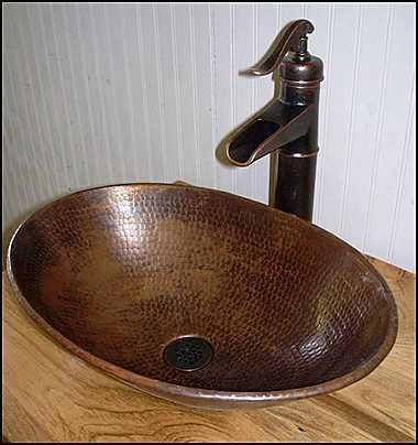 Photo of Installed with a Price-Pfister faucet closeup - Copper Sink ...