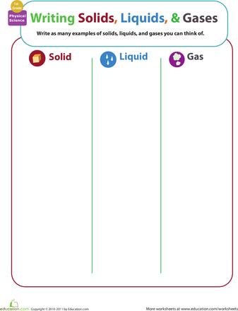 Matter Mixup: Writing Solids, Liquids, and Gases | 2nd Grade ...