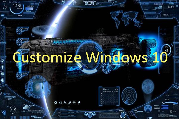 How to Customize Windows 10 Themes, Desktops, and Taskbar?