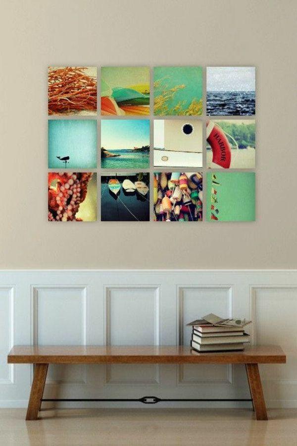 100 Fotocollagen erstellen - Fotos auf Leinwand selber machen - wohnung dekorieren selber machen