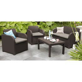 Table ANDRIA L150cm+4 chairs KOSTA | JYSK | Outdoor ...