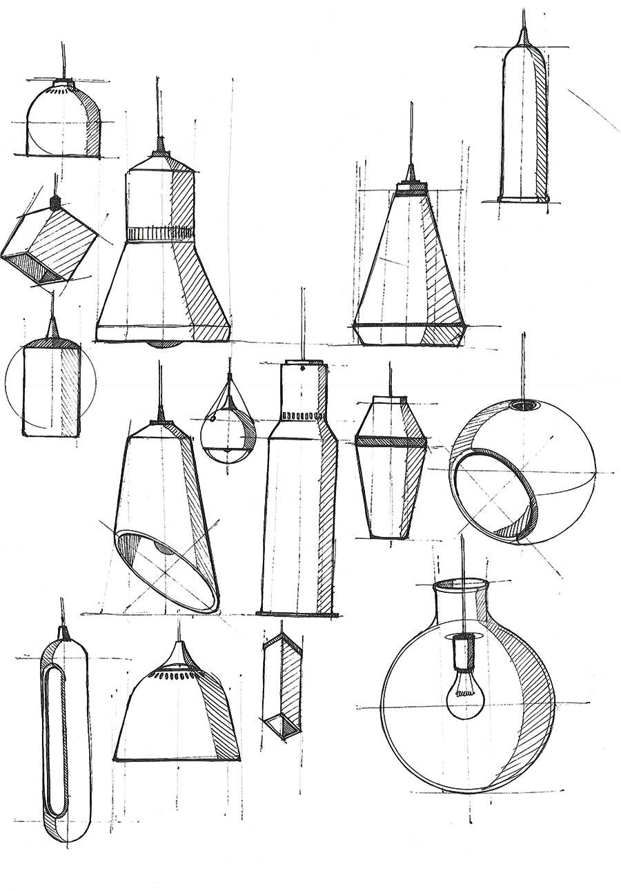 Table lamp for drawing - Desk Lamp Conc Industrial Design Sketches