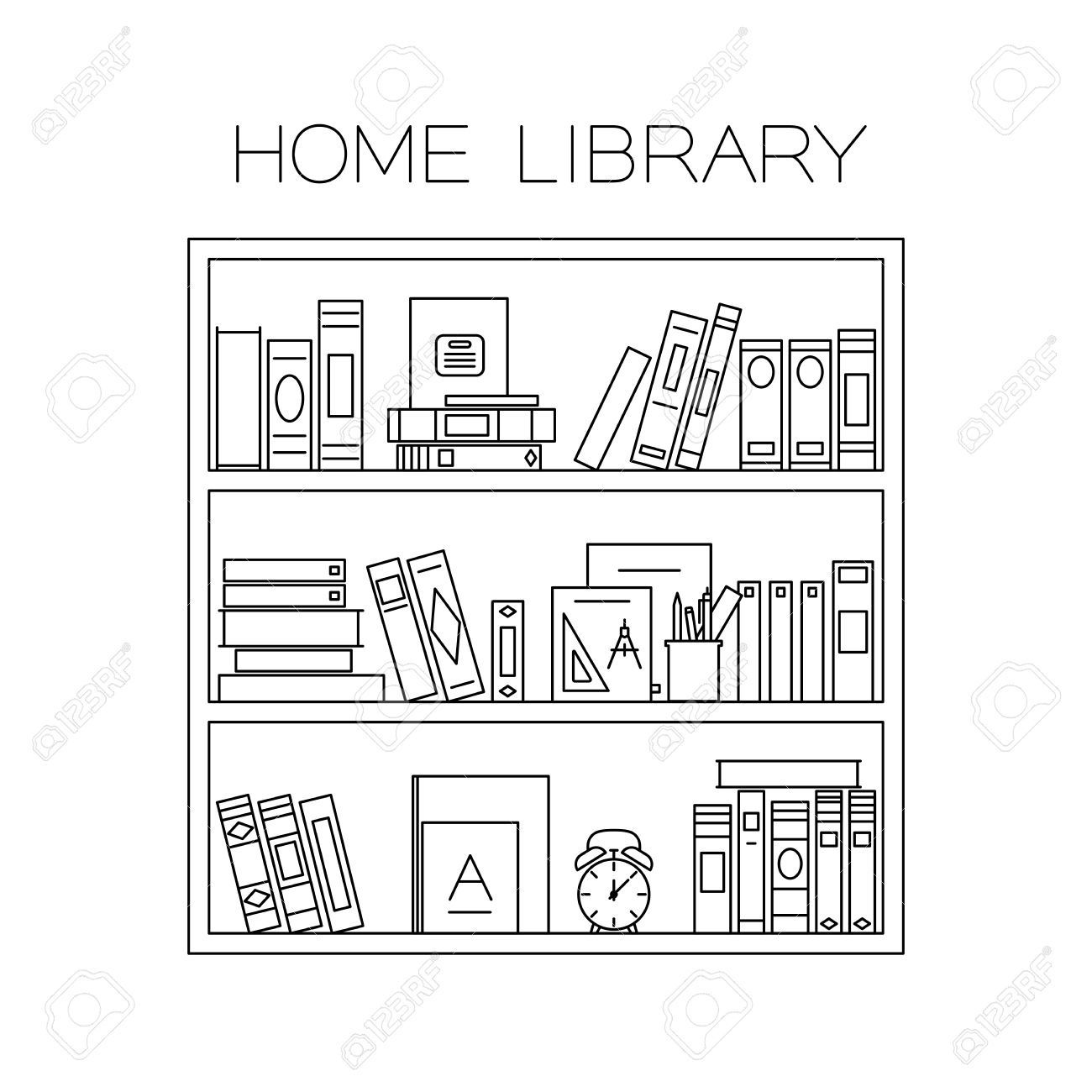 Bookcase Cartoon Black And White Book Clip Art Bookshelf Art Creative Bookshelves