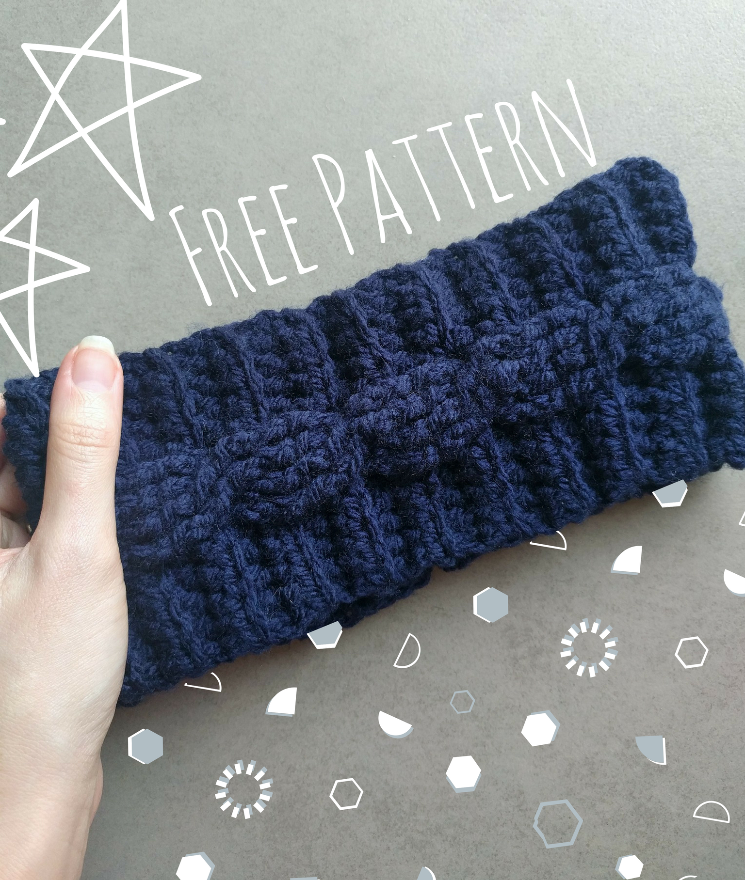 This free cable crocheted ear warmer pattern is versatile and easy ...