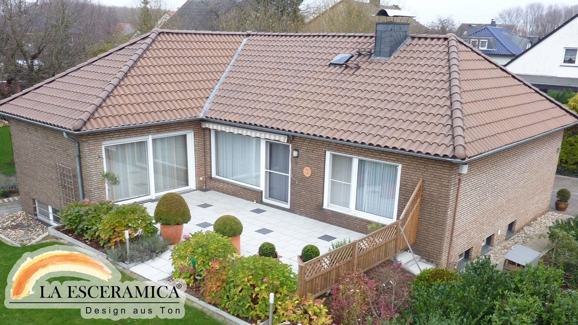 Fassadenfarbe mediterran braun  La Esceramica Dachziegel Farbe Braun | Dachziegel | Pinterest ...