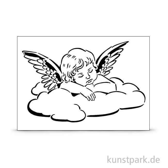 Viva Decor Universal Schablone A4 Engel Auf Wolke Angel Tattoo Designs Baby Angel Tattoo Cupid Tattoo