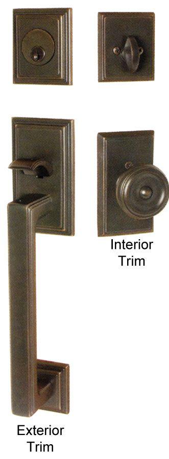 Emtek hamden brass entry door handle shop entry set door locks homestead for for Home hardware exterior door handles