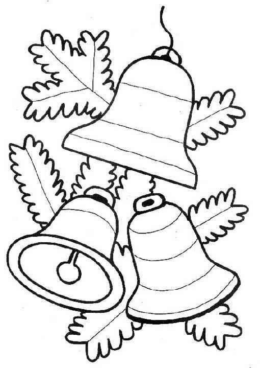 Dibujos y Plantillas para imprimir: Campanas navidad | bordado ...