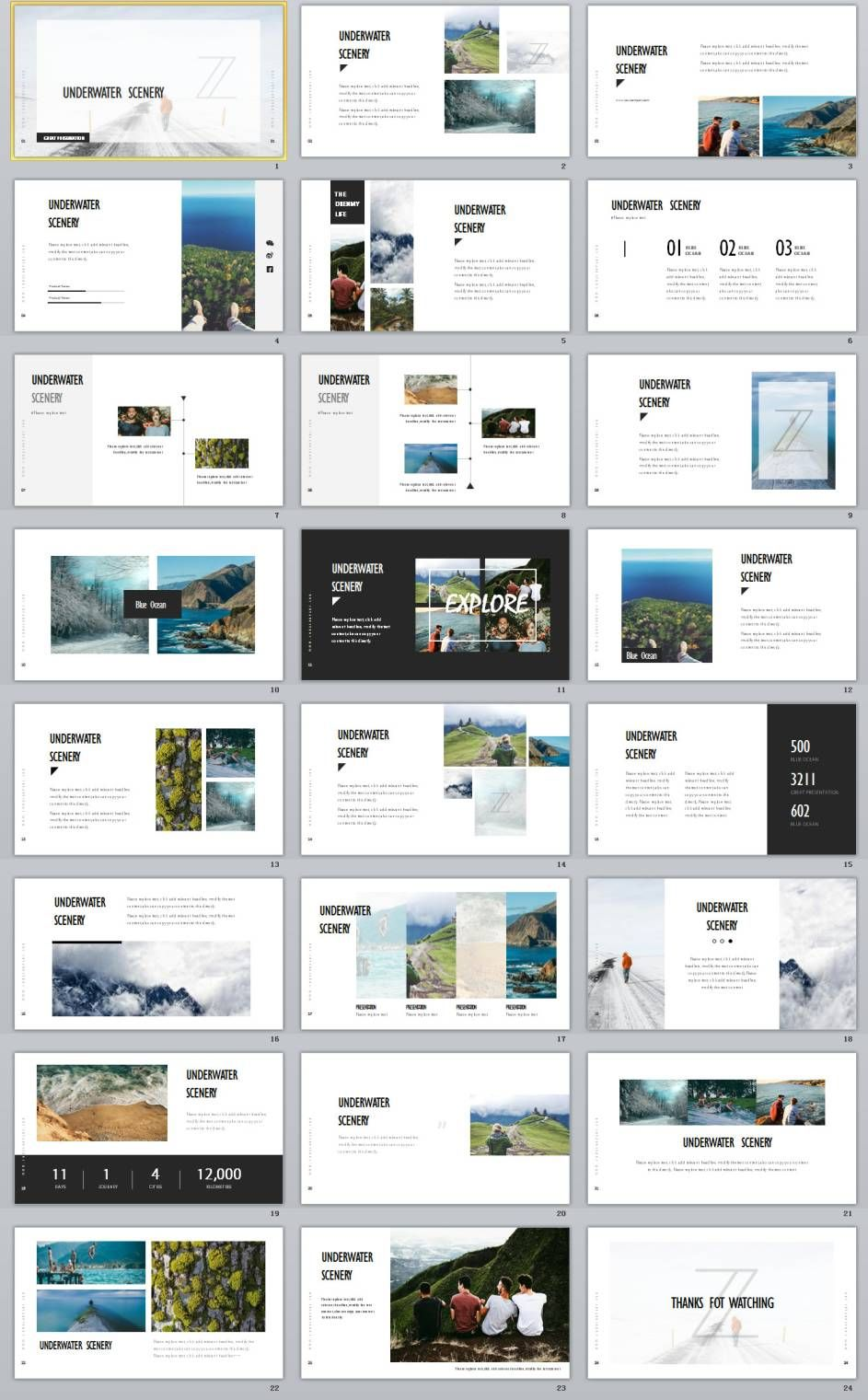 Underwater Scenery Powerpoint Template  BestDesignBusiness