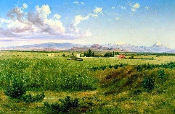 Hacienda De Coapa Jose Maria Velasco 1897 Jose Maria Velasco Pinturas Hermosas Velasco
