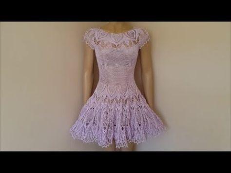 Vestido tejido a crochet para mujer