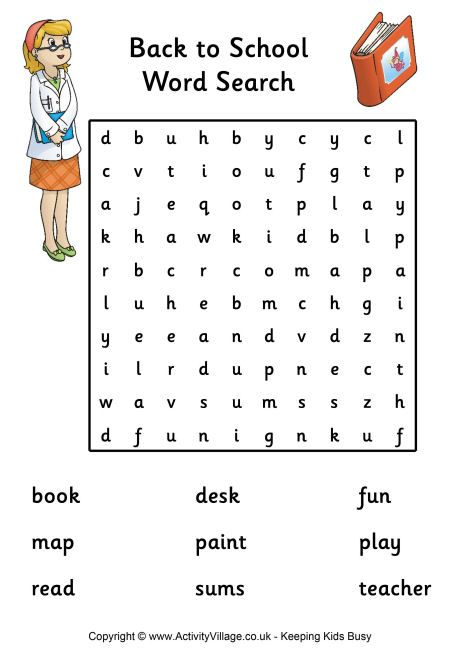 Back To School Word Search Easy Pdf Link Word Searches