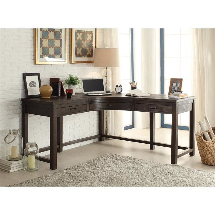 Beartree L Shape Corner Desk Riverside Furniture Corner Desk