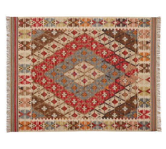 Rosario Kilim Recycled Yarn Indoor Outdoor Rug Floor Fun
