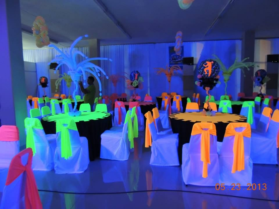 Glow In The Dark Decoration Ideas 72 best neon glow in the dark party ideas images on pinterest