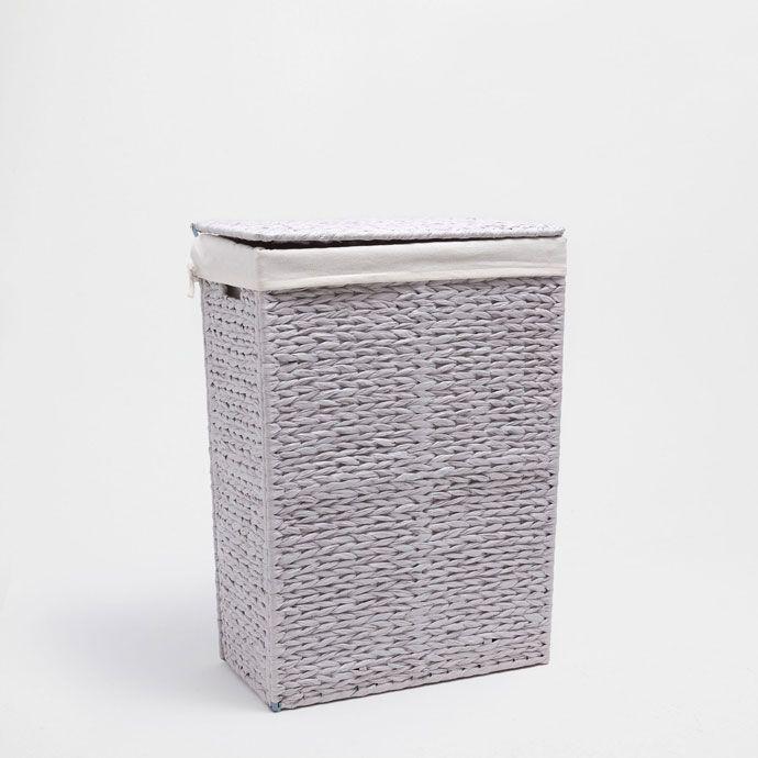 Light Grey Clothes Basket Baskets Bathroom Zara Home United