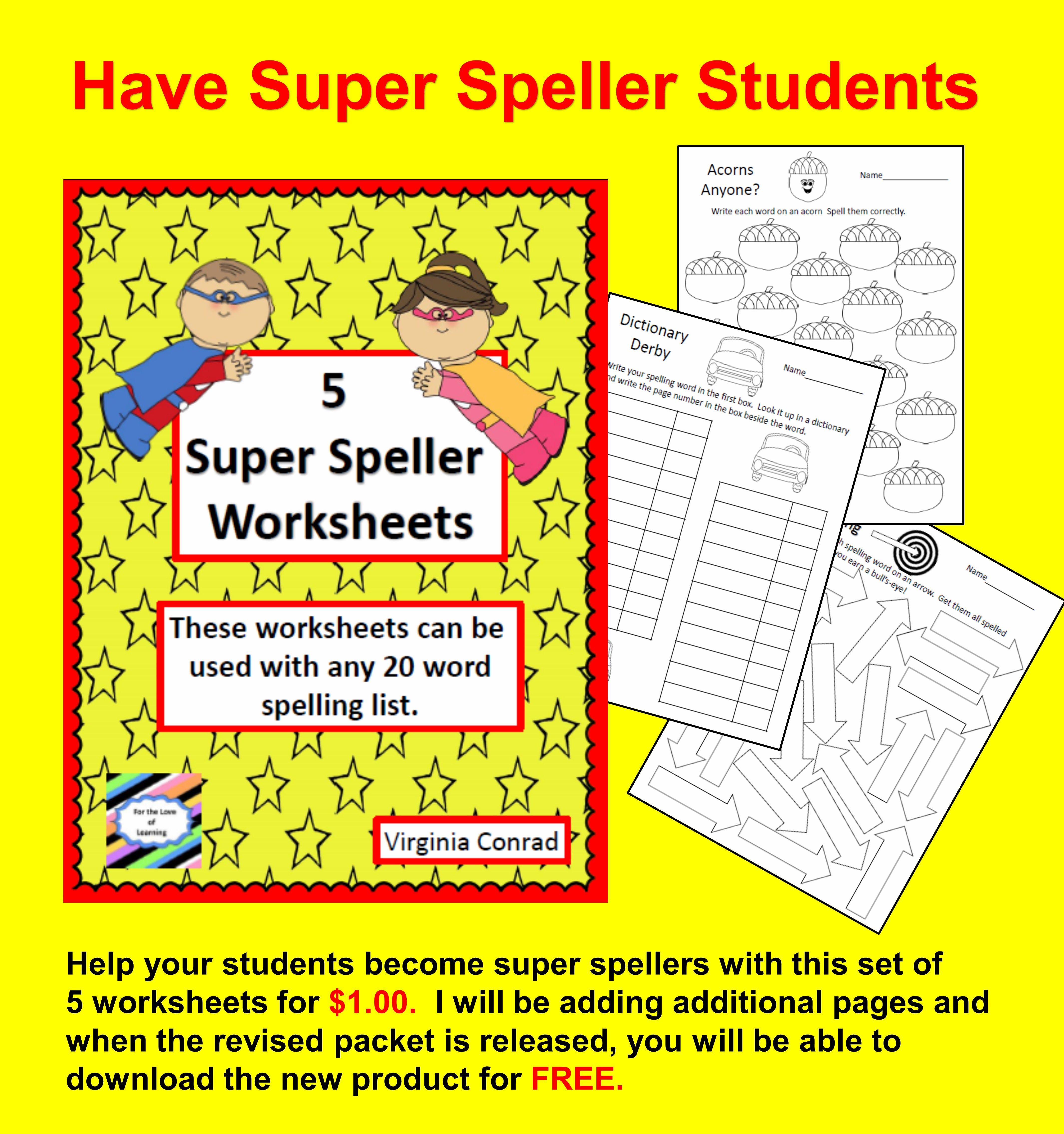 Super Speller Worksheets