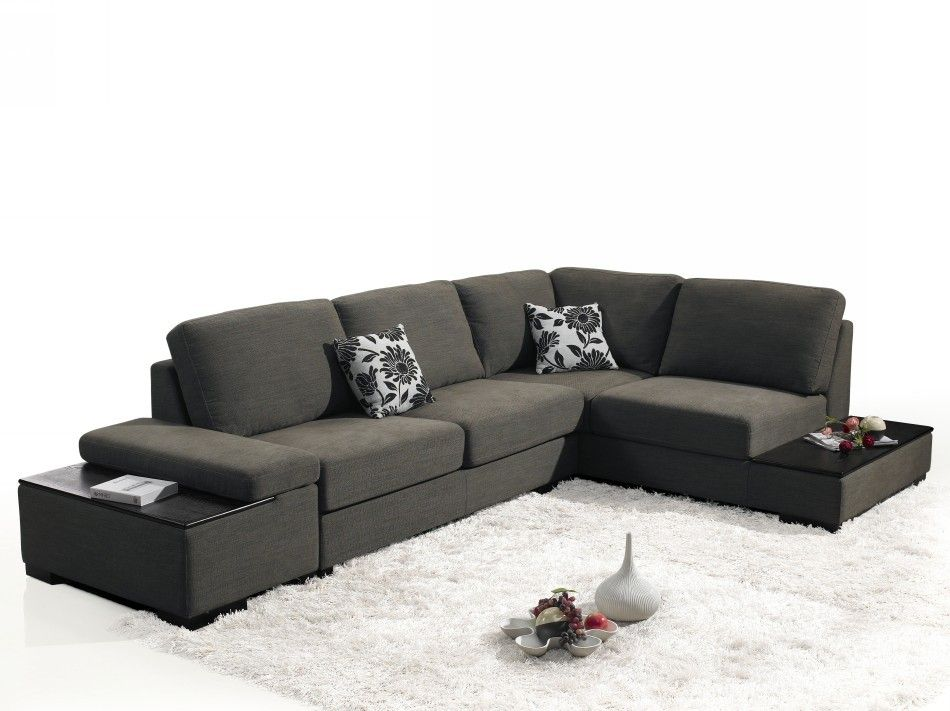 Risto Fabric Sectional Sofa Bed Modern Sofas Living Room