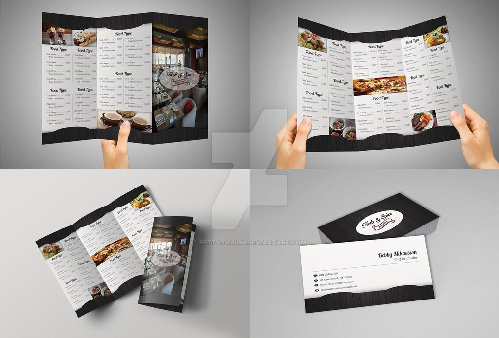 Tri fold restaurant menu and business card by betty design menu tri fold restaurant menu and business card by betty design colourmoves