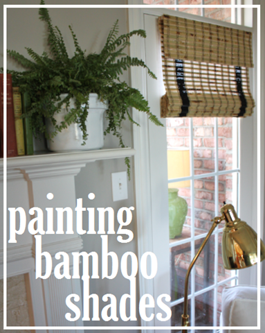 painted bamboo shades in our living room