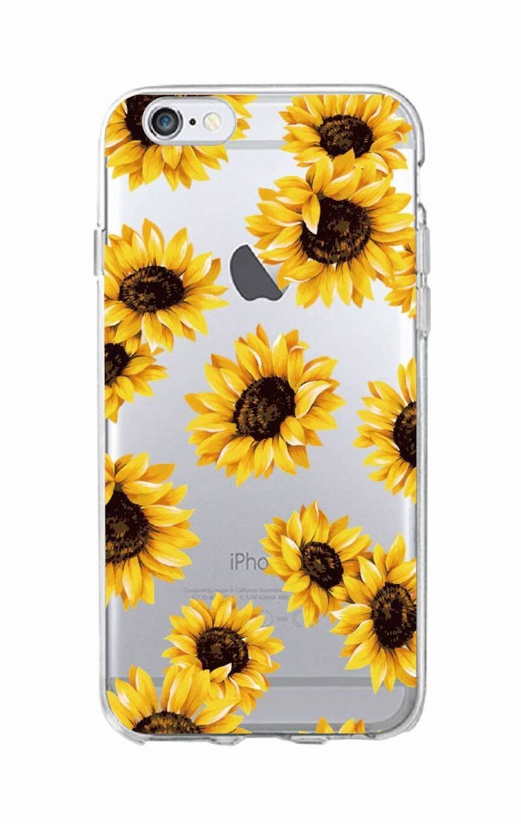 Cute Summer Daisy Sunflower Floral Flower Soft Clear Phone