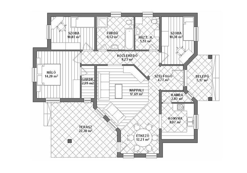 Image result for családi ház alaprajzok garázzsal