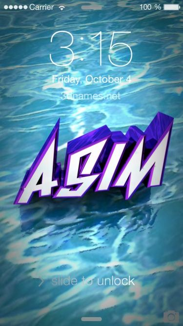 Preview Of Water For Name Asim Name Wallpaper Love Quotes Funny Life Humor